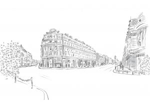 ILNI, illustration by Linda Zoon, streetview