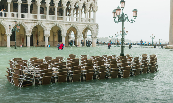 Do you believe in climate change? Flooding in St Mark's square Venice