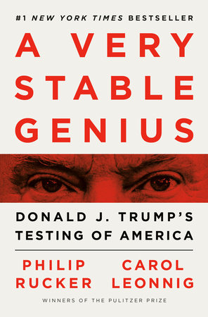 Book Cover with text and the eyes of Donald Trump